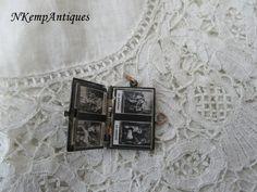 Antique souvenir book pendant 1910 religious by Nkempantiques