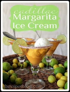 An easy (no churn) recipe for Cadillac Margarita Ice Cream - perfect for Cinco de Mayo!