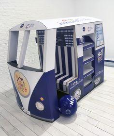 Nivea Sun Kids Mini Camper Van for Wilkos - Cardboard Engineering Pete Hardy - Design Ollie Tremlett - Superior Creative Design