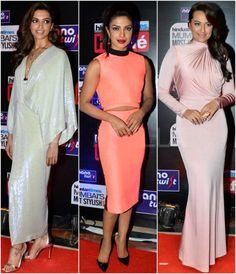 #Deepika Padukone #priyanka chopra #Sonakshi Sinha #mumbai's most stylish awards 2014. Bollywood.