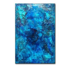 Hey, I found this really awesome Etsy listing at https://www.etsy.com/listing/198387071/original-thick-texture-blue-abstract