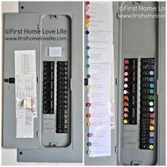 The Homestead Survival   Color Coding Your Circuit Breaker Box – Household Tip   http://thehomesteadsurvival.com
