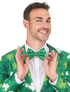 Pajarita verde con brillantina verde adulto