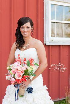 Spring Wedding in North Carolina, Rustic Barn, Wedding, Burlap, Bridal Session, Copyright Jennifer Strange Photography