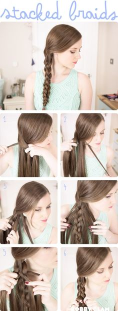 Stacked 3D Braids – Hair Tutorial Stacked 3D Braids – Bobby Glam Blog