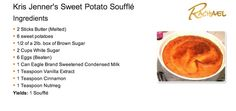 Kris Jenner's Sweet Potato Souffle... this is delicious! I can't wait to have this on Thanksgiving...