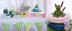 Frog Prince DIY Party Cake Candy Buffet