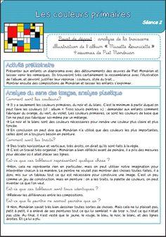 Séquence 3 : les couleurs primaires Piet Mondrian, Ecole Art, Keith Haring, Art Plastique, Teaching Art, Oeuvre D'art, Art Techniques, Art Forms, Art Lessons