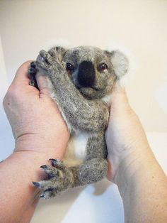 KOALA BEAR 100% Handmade Needle Felted Decor item or Photo Prop OOAK | eBay