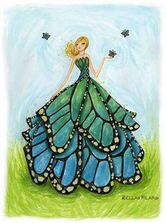 Bella Pilar art http://www.bellapilar.bigcartel.com/product/butterfly-blue