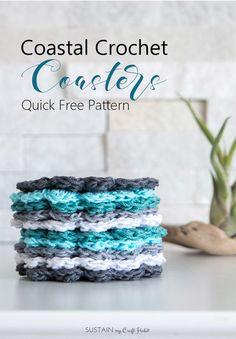 Easy crochet coaster free pattern   Simple DIY gift idea   Cotton yarn coasters   Beginner crochet patterns with tutorial
