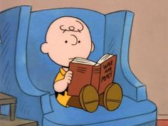 "Charlie Brown reads ""War and Peace."""