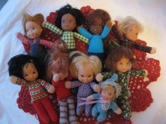 Honey Hill Bunch Dolls!! There is nothing I wanted more than for my sister to let me play with these!!!