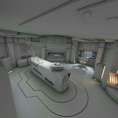 All white spaceship interior Spaceship Interior, Futuristic Interior, Futuristic Design, Futuristic Architecture, Games Design, Prop Design, Stage Design, Design Ideas, Cyberpunk