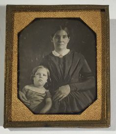 1 6th Plate Daguerreotype of Mother and Daughter | eBay