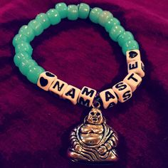 Namaste Buddha Kandi Bracelet by KandiKweens on Etsy