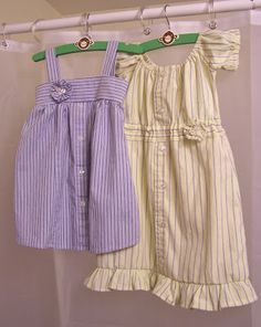 DIY Repurposed Clothing   Easter Dresses from Repurposed Dress Shirts!