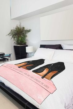 Oliver Gal by One Bella Casa Night Out Stilettos Multi Duvet Cover by Lightning E-Commerce on @HauteLook