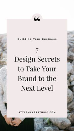 7 Design Secrets to Take Your Brand to the Next Level // Style Maker Studio -- Business Entrepreneur Personal Branding, Marca Personal, Social Media Branding, Branding Your Business, Business Marketing, Creative Business, Business Tips, Content Marketing, Business Website