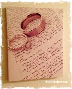 future ideas  I placed wedding rings on Bible passages (Genesis 2:24)