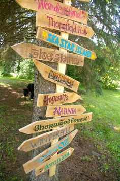 Beneath the Rowan Tree: Which Way Shall We Go? DIY Literary Garden Sign Tutorial