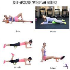 self massage foam rollers gymnastics
