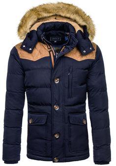 Pánská tmavě modrá zimní bunda Bolf 3079