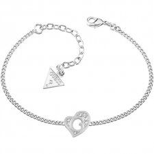 Guess G Hearts Silver Plate Bracelet UBB71527-L Bangle Bracelets, Bangles, Fiorelli, Silver Plate, Jewels, Neck Chain, Heart, Stainless Steel, Silver