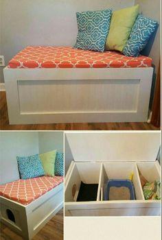 14 façons de cacher la litière du chat et de l'intégrer à la décoration de la pièce! - Décorations - Trucs et Bricolages