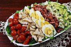 Romanian Food, Tofu, Cobb Salad, Bacon, Avocado, Mango, Spaghetti, Low Carb, Cooking