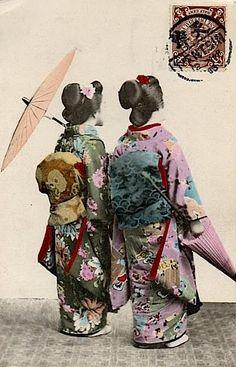 Les magnifiques tissus de kimono japonais.