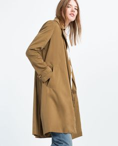 PLEATED BACK TRENCH COAT-OUTERWEAR-TRF | ZARA United States