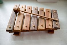 Beautifully built wooden xylophone.