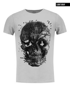 f30176b42 Men's Designer Skull T-shirt Vintage Skeleton Graphic Top MD050 RB Design  Brand New Skeleton