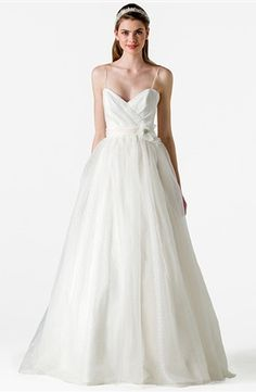 Anne Barge - Sweetheart A-Line Gown in Silk Organza