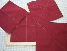 Montessori Folding Cloth Set  with Wood Square by GardenofFrancis, $35.00