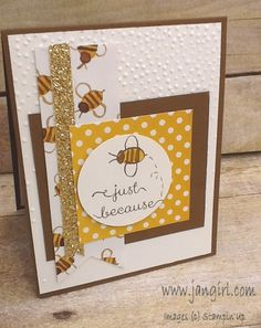 Jan Girl: Stampin' Up Garden in Bloom English Garden card using the Triple Banner Punch