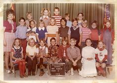 vintage class photo 1976 - with me, via Flickr. looks like every 1976 class photo