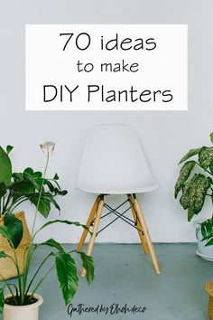 70 tutorials to make beautiful DIY planters. Wood, concrete,   clay...there are so many materials you can use to build a pretty   planter. Have a look and find which one you like to try.  #diy #planters   #eay #cheap #box #outdoor #indoor #recycled #stand   #cement #pots #ideas #hanging #wooden #hanger #creative #decoration   #garden #decor