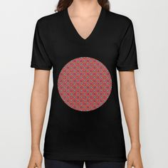 #society6 #tee-shirt #vee-neck #fashion #casual #style #pretiosum #pattern #red #decorative #ornate #elegant #precious #unique #petergross