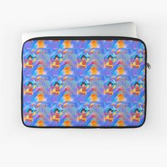 'Micaela' Laptop Sleeve by Jardingnomes Macbook Air Pro, Free Stickers, Sleeve Designs, Back To Black, Sell Your Art, Laptop Sleeves, Chiffon Tops, Classic T Shirts, Plush