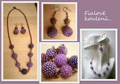 Obšívané kuličky Beading, Crochet Necklace, Drop Earrings, Jewelry, Beads, Jewlery, Jewerly, Schmuck, Drop Earring