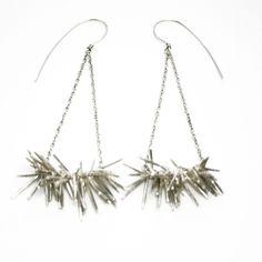 Spike Earrings Sterling