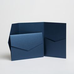 Debut Sapphire Blue Pearlescent Pocketfold