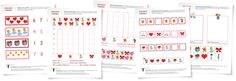 Valentine's Day Math Worksheets (from School Sparks)