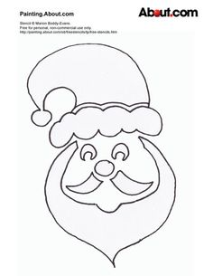 Here Are Your Free Christmas Stencils!: Free Stencil: Father Christmas