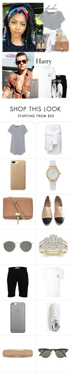 """""""06/5/17 Taking the kids to a photoshoot // Sasha & Harry"""" by the-styles-family ❤ liked on Polyvore featuring T By Alexander Wang, Vivani, Chanel, Ray-Ban, Modern Bride, Element, Yves Saint Laurent, Native Union and adidas"""