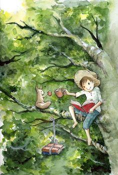 books with a friend   (Kurita Eriko)