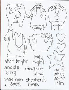 3 of 3 Christmas pattern nativity Nativity Crafts, Christmas Projects, Felt Crafts, Holiday Crafts, Nativity Ornaments, Nativity Scenes, Felt Christmas Ornaments, Christmas Nativity, Noel Christmas