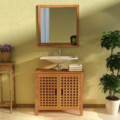Modern Home Cabinet Storage Space Sink Cupboard Unit Bathroom Mirror Brown Wood for sale online Wood For Sale, Mirror With Shelf, Brown Wood, Storage Cabinets, Bathroom Furniture, Bathroom Storage, Cupboard, Storage Spaces, Sweet Home